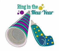New Year embroidery design