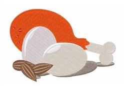 Chicken Eggs Almonds embroidery design