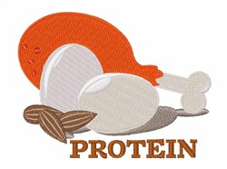 Protein embroidery design