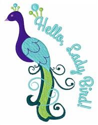 Hello, Peacock! embroidery design