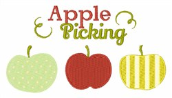 Apple Picking embroidery design