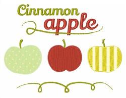Cinnamon Apple embroidery design