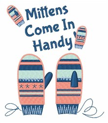 Mittens Come In Handy embroidery design