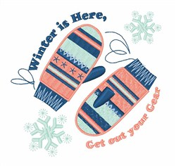 Winter Gear Mittens embroidery design