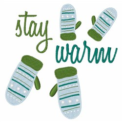 Stay Warm Mittens embroidery design