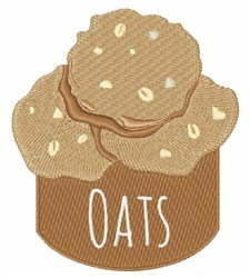 Oats Cookies embroidery design