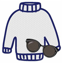 Sweater & Glasses embroidery design