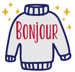 Bonjour embroidery design