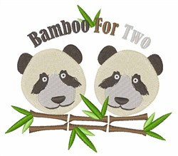 Bamboo For Two embroidery design