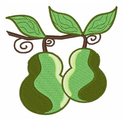 Sweet Pears embroidery design