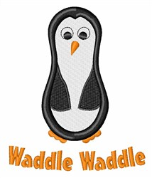 Waddle Waddle embroidery design