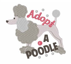 Adopt A Poodle embroidery design