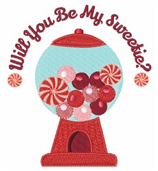 Be My Sweetie embroidery design