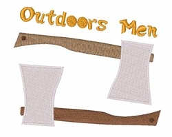 Outdoors Men embroidery design