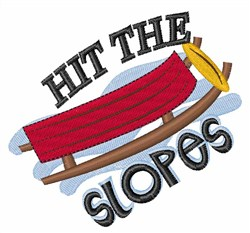 Hit The Slopes embroidery design