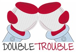 Double Trouble embroidery design