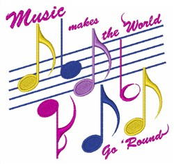 World Of Music embroidery design