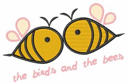 Birds And The Bees embroidery design