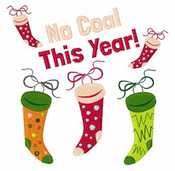 No Coal This Year embroidery design