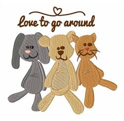 Love To Go Around embroidery design