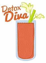 Detox Diva embroidery design
