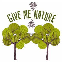 Give Me Nature embroidery design