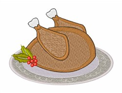 Christmas Turkey embroidery design