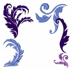 Feather Flourishes embroidery design