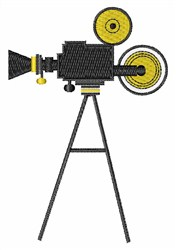 Movie Camera Action! embroidery design