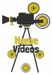 Home Videos embroidery design