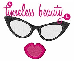 Timeless Beauty Lips Eyewear embroidery design