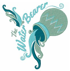 The Water Bearer embroidery design