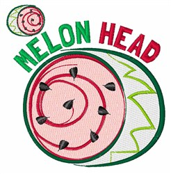 Melon Head embroidery design