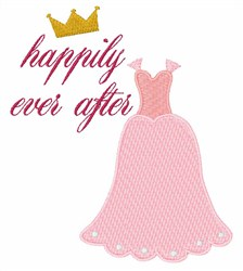 Happily Ever After Gown embroidery design