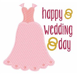 Happy Wedding Day Gown embroidery design