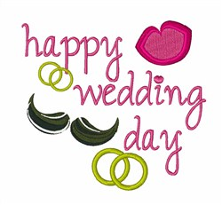 Happy Wedding Day embroidery design