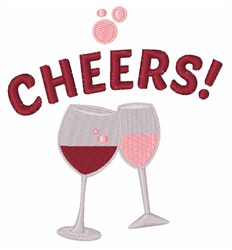 Cheers! Wine embroidery design