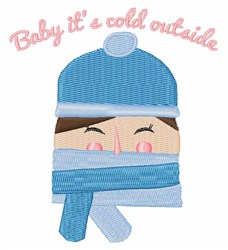 Baby Its Cold Outside embroidery design