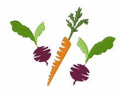 Beet & Carrot embroidery design