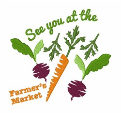 Farmers Market Carrots Beets embroidery design