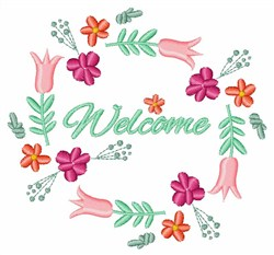 Welcome Spring Floral embroidery design