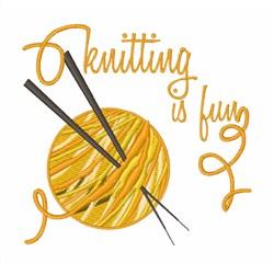 Knitting Is Fun Yarn embroidery design