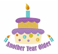Another Year Older Cake embroidery design