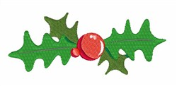 Holly Berry Bowtie embroidery design