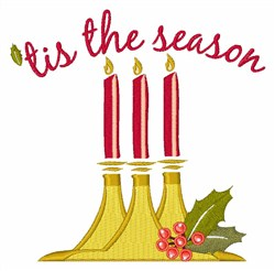 Tis The Season Candles embroidery design