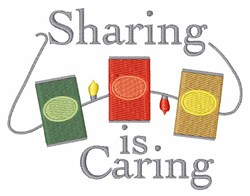 Sharing Is Caring Lights embroidery design