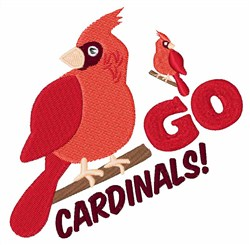 Go Cardinals! embroidery design