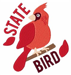 State Bird embroidery design