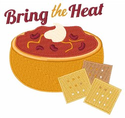 Bring The Heat embroidery design