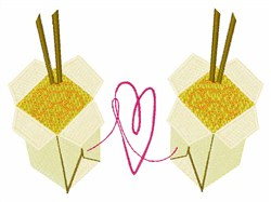 Chinese Takeout embroidery design